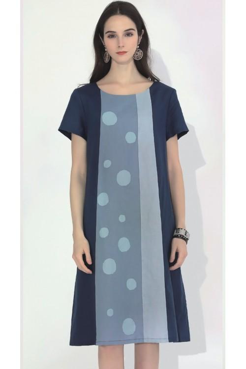 Robe en lin et coton